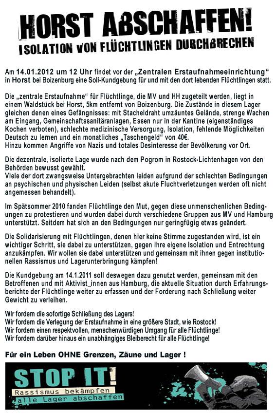 Kundgebung Horst